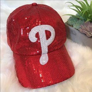 Philadelphia Phillies Red Sequins Baseball Hat